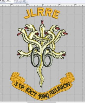 66 JLRRE - 3 TP REUNION Embroidered Polo Shirts